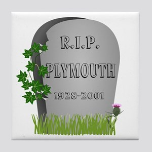 R.I.P. Plymouth Tile Coaster