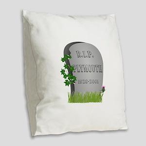 R.I.P. Plymouth Burlap Throw Pillow