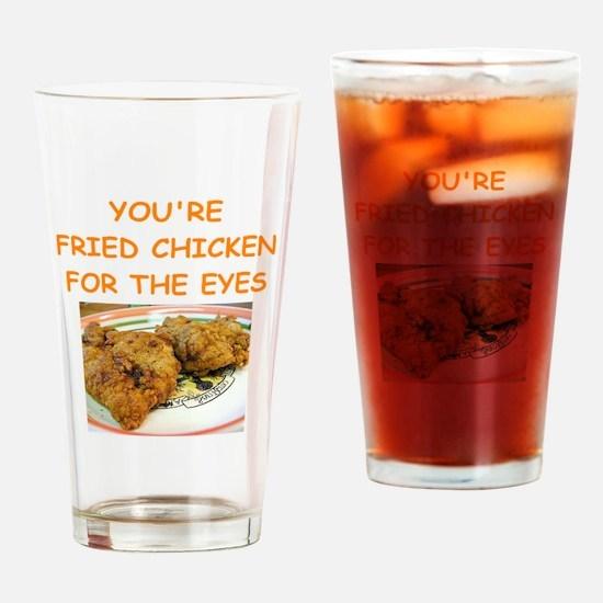 fried chicken lover Drinking Glass