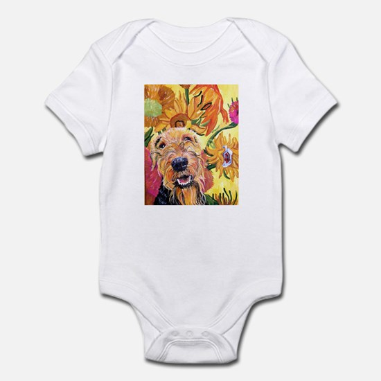 Airedale terrier dog Infant Creeper