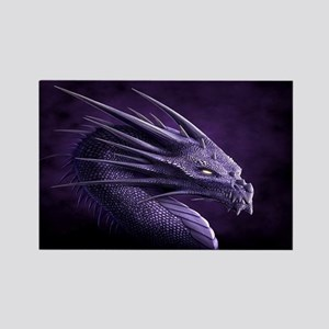 purple dragon Magnets