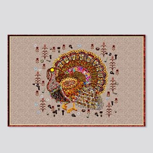 Metal Thanksgiving Turkey Postcards (Package of 8)