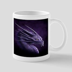 purple dragon Mugs