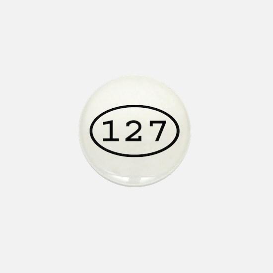 127 Oval Mini Button