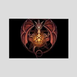 fantasy dragon pentacle Magnets