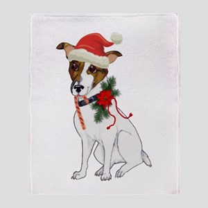 Jack Russell Christmas Throw Blanket