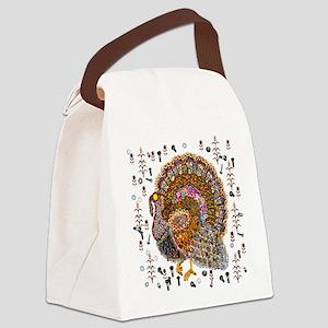 Metal Thanksgiving Turkey 2 Canvas Lunch Bag