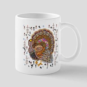 Metal Thanksgiving Turkey 11 oz Ceramic Mug