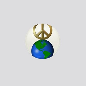Peace on Earth Word Puzzle Version Mini Button