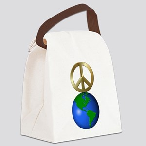 Peace on Earth Word Puzzle Versio Canvas Lunch Bag