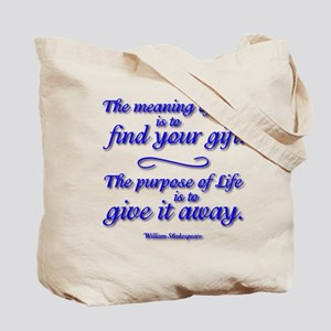 Meaning of LIFE Tote Bag