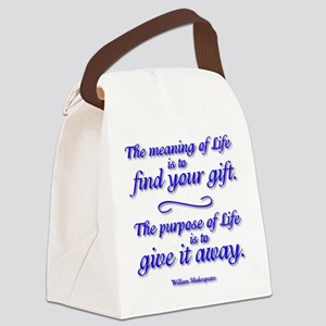 Meaning of LIFE Canvas Lunch Bag