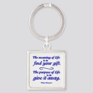Meaning Of Life Square Keychain Keychains