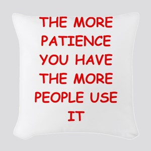 patience Woven Throw Pillow