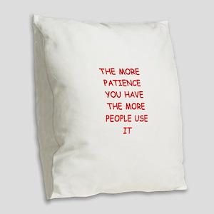 patience Burlap Throw Pillow