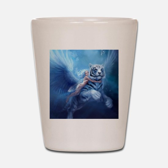 fairy and flying tiger Shot Glass