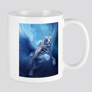 fairy and flying tiger Mugs