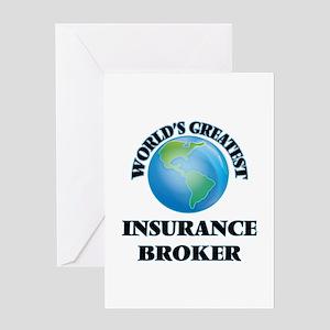 World's Greatest Insurance Broker Greeting Cards