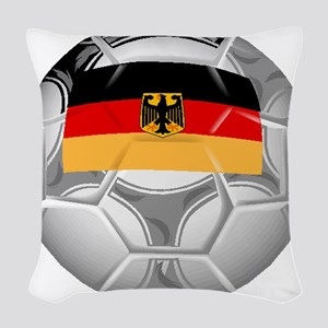 Germany Soccer Ball Woven Throw Pillow