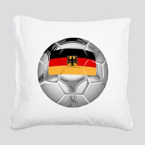 Germany Soccer Ball Square Canvas Pillow