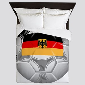 Germany Soccer Ball Queen Duvet
