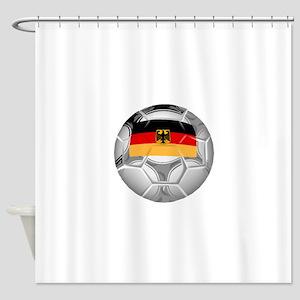 Germany Soccer Ball Shower Curtain