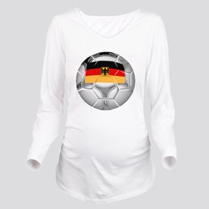 Germany Soccer Ball Long Sleeve Maternity T-Shirt
