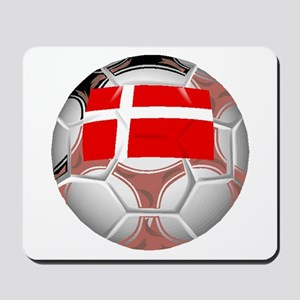Denmark Soccer Ball Mousepad