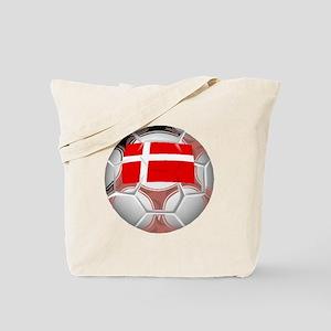 Denmark Soccer Ball Tote Bag