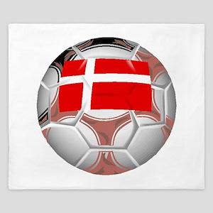 Denmark Soccer Ball King Duvet