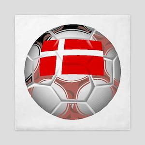 Denmark Soccer Ball Queen Duvet