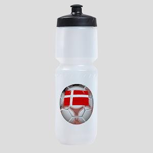 Denmark Soccer Ball Sports Bottle