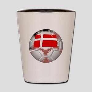 Denmark Soccer Ball Shot Glass