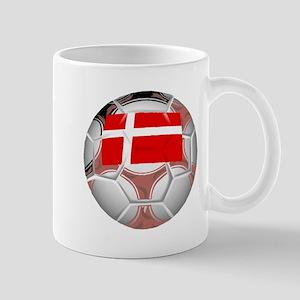 Denmark Soccer Ball Mugs