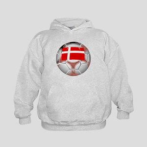 Denmark Soccer Ball Hoodie
