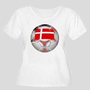 Denmark Soccer Ball Plus Size T-Shirt