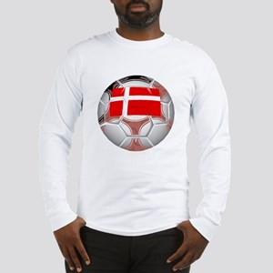 Denmark Soccer Ball Long Sleeve T-Shirt