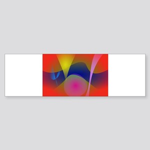 Abstract Volcano Bumper Sticker
