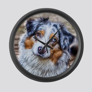 Australian Shepherd Large Wall Clock