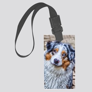 Australian Shepherd Large Luggage Tag