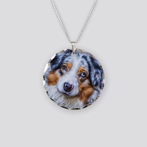 Australian Shepherd Necklace Circle Charm
