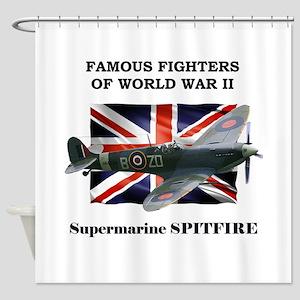 Supermarine Spitfire Shower Curtain