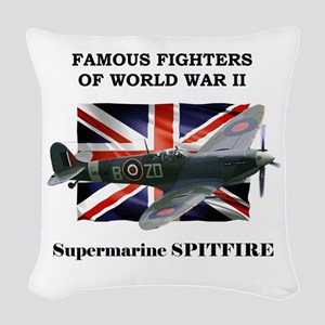 Supermarine Spitfire Woven Throw Pillow