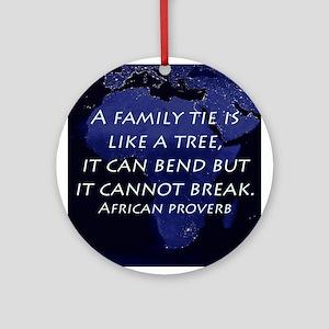 A Family Tie Round Ornament