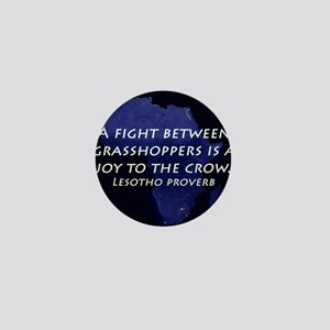 A Fight Between Grasshoppers Mini Button