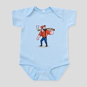 LumberJack Holding Axe Cartoon Body Suit