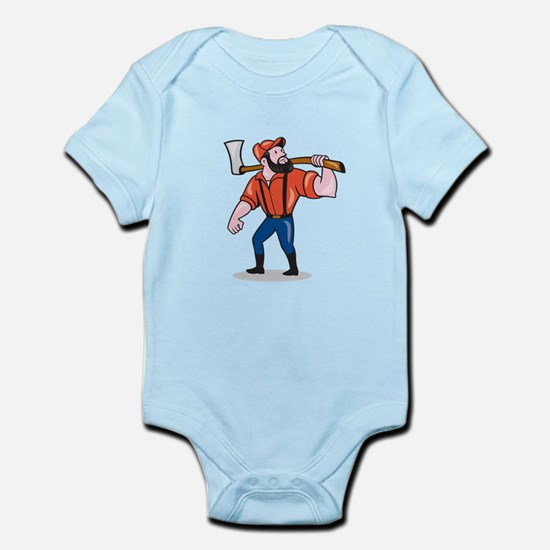 LumberJack Holding Axe Cartoon Body Suit