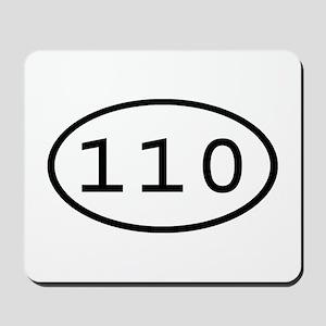 110 Oval Mousepad