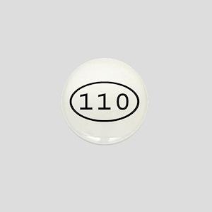 110 Oval Mini Button