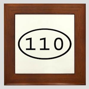 110 Oval Framed Tile